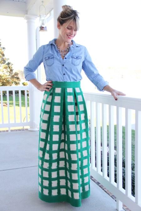 Awesome pleated maxi dress