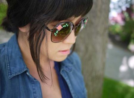 Beautiful embroidered sunglasses diy
