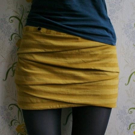Creative folded skirt