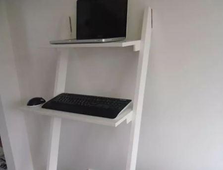 Diy ladder standing desk