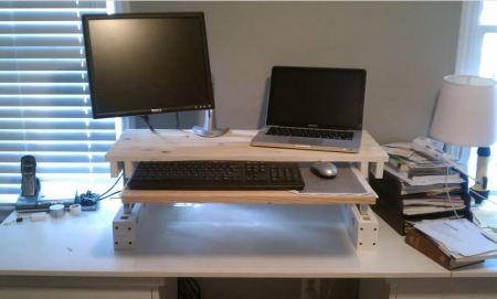 Diy standing desk for working