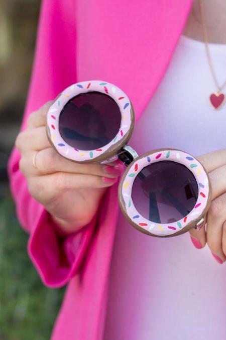 Diy sunglasses craft with nail polish