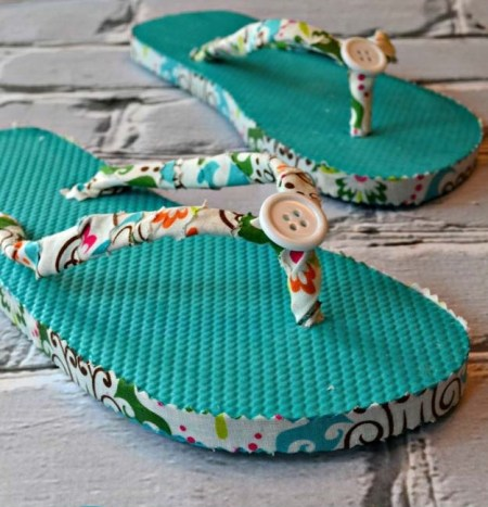 Easy diy fabric flip flops