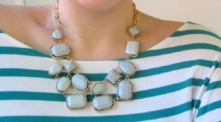 Old necklace with nail polish