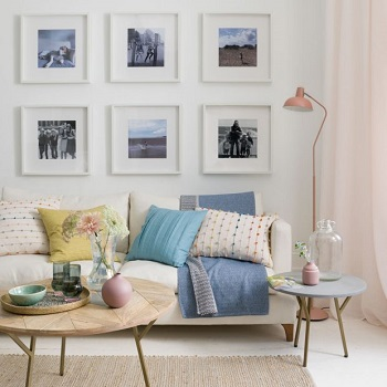 Perfect height of hanging artwork Restyle Your Home Interiors On A Budget With Decor Hack Ideas