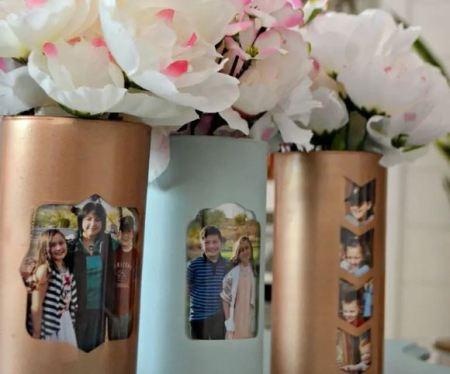 Photo memory vase