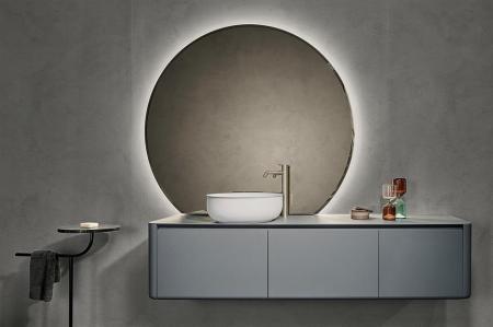 Round mirror lighting