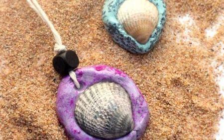 Seashells necklace diy