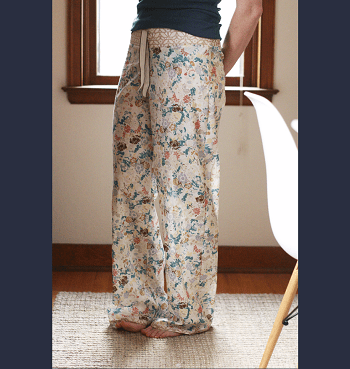 Shirred voile pajama pants An Hour Or Two Pajama Pants Project For Beginner Sewist