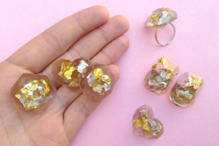Confetti resin jewelry diy
