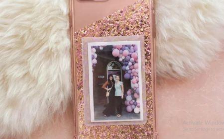 Diy glitter cell phone case