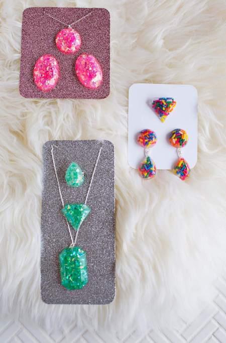 Diy pretty sparkling jewelry sets