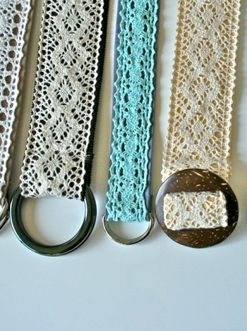 Lace belts DIY Splendid Belt Ideas To Amaze Your Daily Outfit