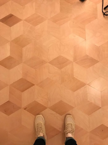 Parallelograms plywood flooring DIY Low Cost Plywood Flooring Ideas To Save Your Bank