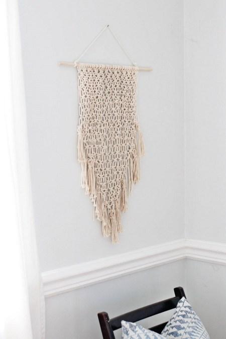 Pretty macrame hanging wall
