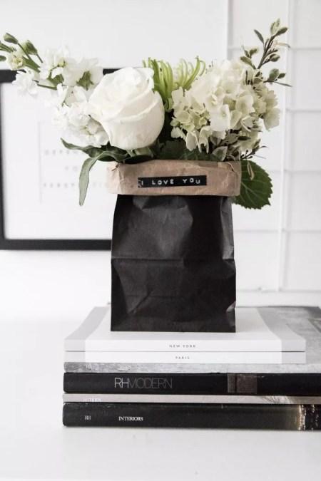 Pretty paper bag bouquets