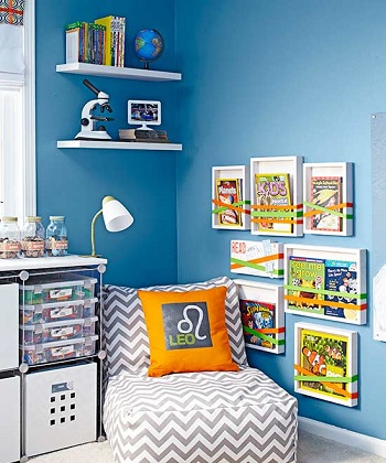 Reading material DIY Storage Solution To Keep Your Kids Room Organized