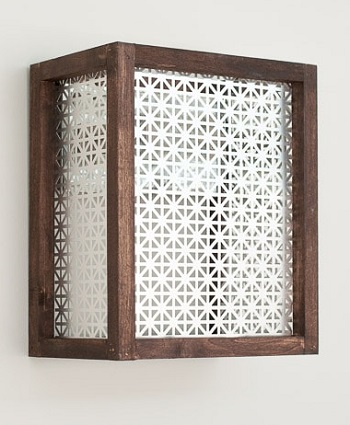 Wooden decorative metal sheet sconce DIY Unique Wall Sconce Ideas To Have Warm Elegance Light Decor