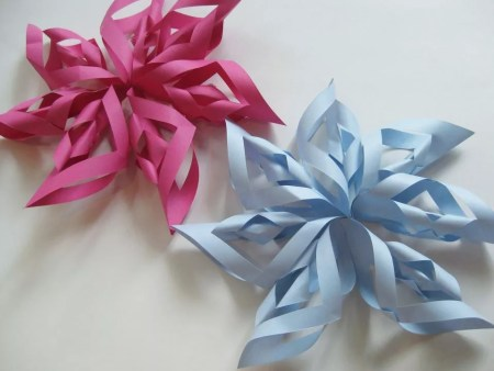 Beautiful paper starbursts