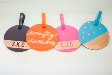 Colorful leather tags