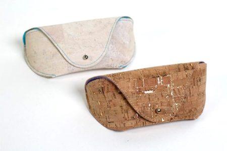Cork fabric sunglasses case