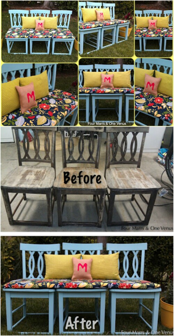 Brilliant Ideas To Repurpose Old Chairs Into New Furnishing