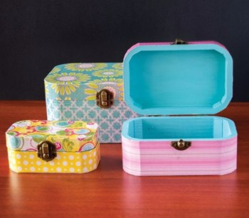 Cool Mod Podge Wooden Jewelry Boxes