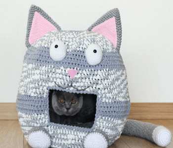 Crochet cat house DIY Highly Striking And Safety Cat House Ideas