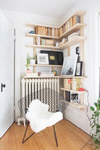 Custom corner shelves diy