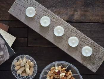 Diy candle holder from wood