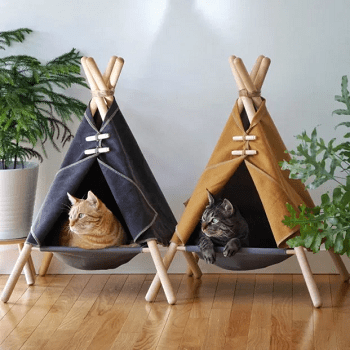Diy cat tent house DIY Highly Striking And Safety Cat House Ideas