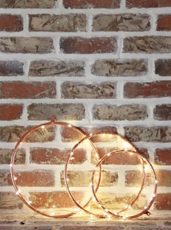Diy copper lighted wreaths for teens