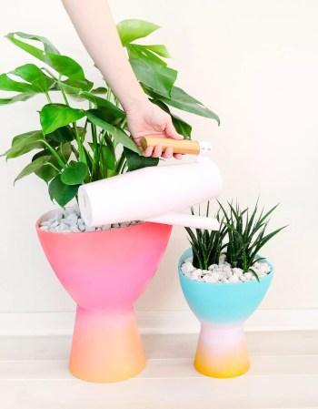 Diy gradient planter for garden