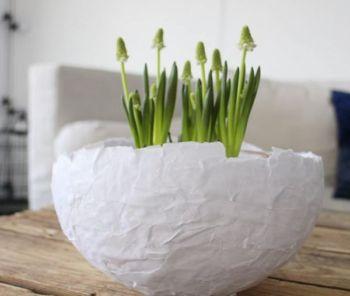 Diy paper mache pot