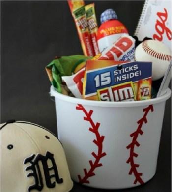 Diy sport theme gift basket