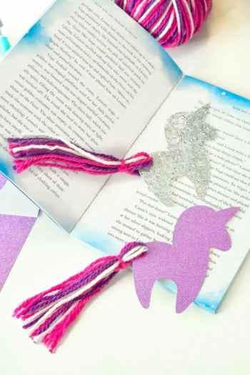 Diy unicorn bookmark