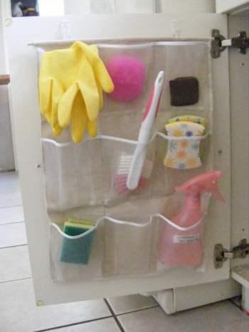 Diy pocket organizer for bathroom