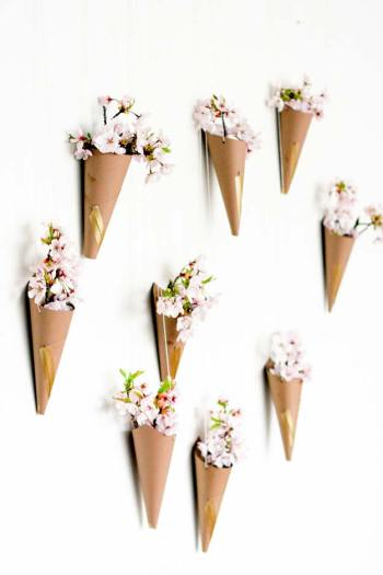 Flower cone wall display