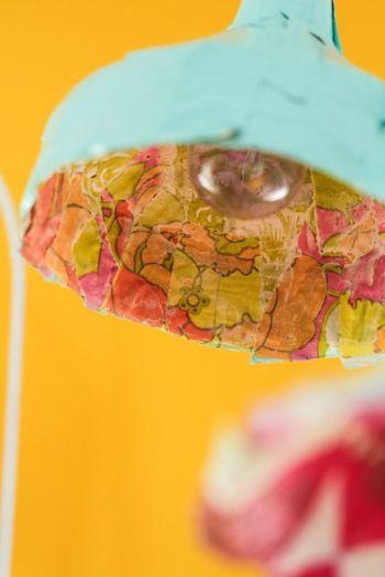 Paper mache pendant lights