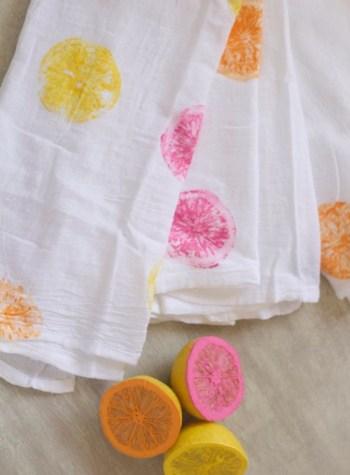 Super easy diy painted tea towel