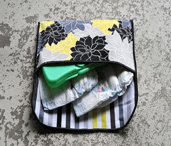 15-minute diaper clutch DIY Diaper Bag Pattern Ideas To Create As Caring Parentsdiaper