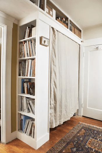 Built-in closet Chic And Affordable DIY Solutions For Your Kids' Bedroom Without Closet