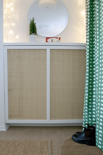 Cane-front cover DIY Stylish Radiator Covers To Keep Your Home Pretty