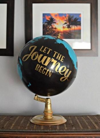 Diy globe gradutaion gift
