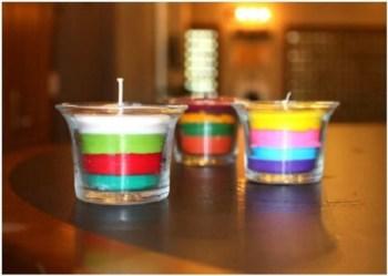 Diy homemade crayon candles