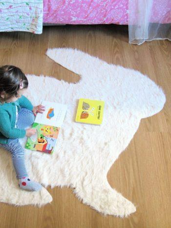 Diy no sew rabbit rug