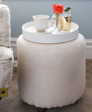 Fancy upholstered stool Pretty DIY Stool Ideas You Can Create From Scrap Materials