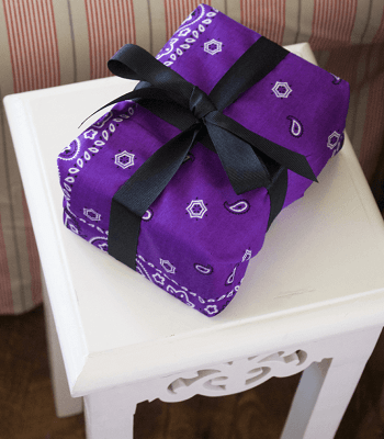 Gift wrap Skillful Ideas You Can Do With Your Simple Bandana