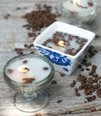 Homemade french vanilla candles
