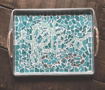 Mosiac cooking sheet serving tray Smart-Upgrade Repurposing Ideas Of Your Old Baking Pan